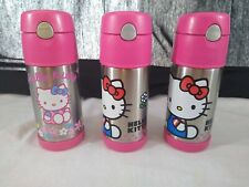 3 Hello Kitty Thermos Funtainer Vacuum Insulated Stainless Steel 12oz/355mL