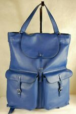 GORGEOUS!!! YSL Yves Saint Laurent WOMEN/MEN ROYAL BLUE LEATHER XLARGE BACKPACK