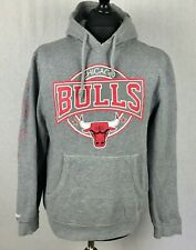 Chicago Bulls Mitchell & Ness Nostalgia Hoodie Men's Size Medium Grey Sweatshirt