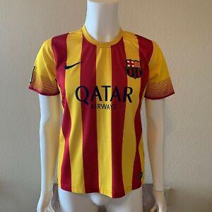 Nike FC Barcelona 2013/14 Away Jersey Men's Small Soccer - La Liga