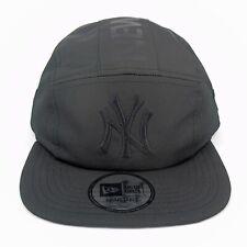 New Era Cap Men's MLB NY Yankees Team Tonal Black Camper 5 Panel Adjustable Hat
