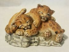 """Lenox Nature's Young """"Played Out"""" 1988 Porcelain Cougar Cubs Figurine"""