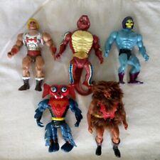 1985 Mattel MOTU Masters of the Universe Figure Lot of 5 He-Man Flying Fists ETC