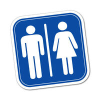 Unisex Toilet Sign Sticker Decal Safety Sign Car Vinyl #6254EN