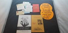 Lot Of 1970's Shriners Life Time Membership Cards, Booklets & California Sticker