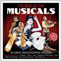 BEST OF THE MUSICALS with songs from GREASE, CATS, EVITA u.a. 3 CD NEU