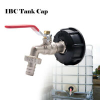 """IBC Tank Adapter S60X6 To Brass Garden Tap With 1/2"""" Hose Fitting Oil Fuel Water"""