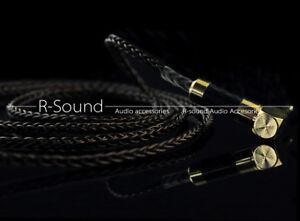 8core 7N OCC 3.5mm Headphone cable cord for Westone w4r Sennheiser ie80 hd598