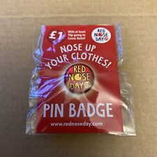Nose Up Your Clothes 09 Red Nose Day Pin Badge