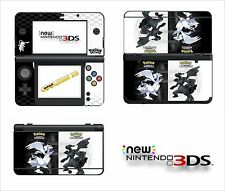 SKIN STICKER AUTOCOLLANT - NINTENDO NEW 3DS - REF 190 POKEMON N&B
