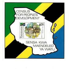 Tanzania - 1988 Census for Peoples Development- Souvenir Sheet - MNH