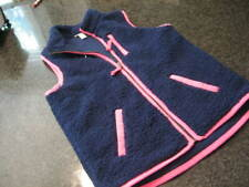 Girls CAT and JACK Super Soft Blue FLEECE Vest with Pink Trim (10-12)