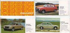 1978 PEUGEOT Small Format Range Brochure 104 304 504 604 in English