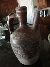 Large Old German Stoneware Jug with Spout