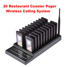 Restaurant Queuing Paging Equipment Chargeable 20Ch 1 Transmitter+20 Receivers