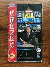 ESPN Baseball Tonight Sega Genesis Game Instruction Manual Only