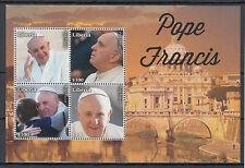 Liberia 2014 MNH Pope Francis 4v M/S II Religion Popes Roman Catholic