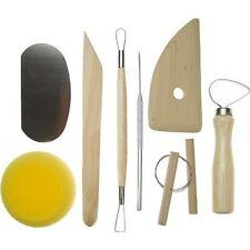 New 8pc Hobby Arts & Crafts Basic Pottery Clay Molding Tool Set