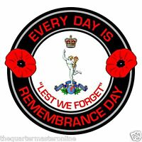 Royal Corps Of Signals Remembrance Day Inside Car Window Clear Cling Sticker