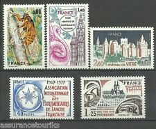 FRANCE - 1977 YT 1945 à 1949 - TIMBRES NEUFS** LUXE