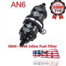 AN6 Inline Fuel Filter E85 Ethanol With 100 Micron Stainless Steel Element USA