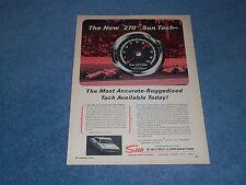"1966 Sun 270 Super Tach Vintage Ad ""The Most Accurate-Ruggedized Tach..."""