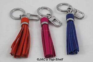 Tumi Tassel Key Fob #14778... Pick a color