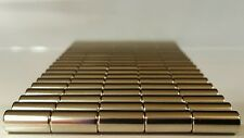 "10 Neodymium N52 Cylinder Magnets Super Strong Rare Earth Disc 1/2"" × 1/4"""