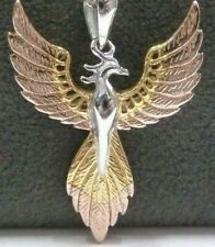 Solid Sterling Silver Phoenix Pendant - Gift Boxed