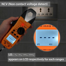 Digital Clamp Meter Multimeter True TRMS AC DC Current Voltage Resistance Tester