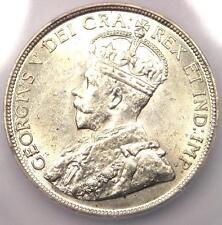 1918-C Canada Newfoundland George V 50 Cent (50C, Half Dollar) - Icg Ms63 (Bu)