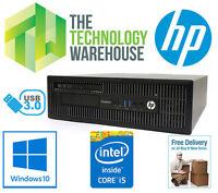 HP ELITEDESK 800 G1 SFF PC - 4TH GEN I5 CPU, 8GB RAM, 500GB HDD, WINDOWS 10 PRO
