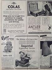 Ensign Cameras, Selfix 420, 1941 Vintage Magazine Advert, Original Antler Travel