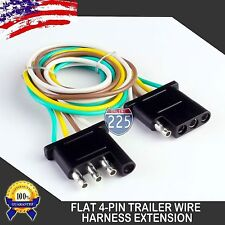2pcs 6ft Trailer Light Wiring Harness Extension 4-Pin 18 AWG Flat Wire Connector