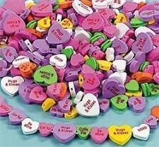 40 Conversation Heart Valentine Foam Beads Kids Craft