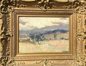 ANTIQUE VINTAGE PETER MACKIE OIL PAINTING SIGNED/CALIFORNIA IMPRESSIONISM/1890's