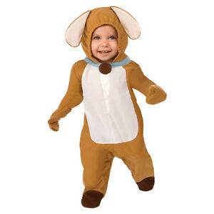 Kids Puppy Dog Costume Plush Jumpsuit Toddler Child Unisex Girls Boys Mascot NEW