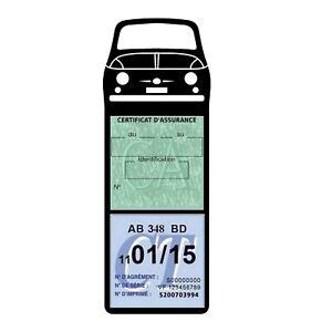 Porte vignette assurance voiture FIAT 500 étui voiture méga Stickers auto rétro