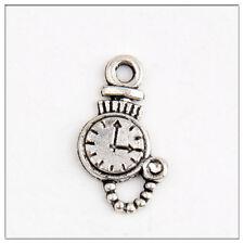 40 clock Tibetan Silver Charms Pendants Jewelry Making Findings