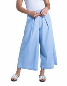 Ladies Wide Leg Culottes for Women light blue