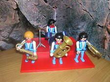 C 14 3723 Groupe De Jazz Music Chapelle Modèle Musicien Maison De Poupée 1900
