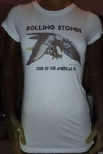 """Rolling Stones Womens Custom T shirt Tour of the Americas 1975 30"""" chest Small"""