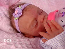 Full body solid Ecoflex 20 silicone preemie  baby girl Fermaisa 1 drinks and wet