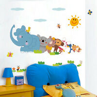 Hot Cartoon Animals Sticker Home Mural Decor Bedroom Wall Decal Kindergarten
