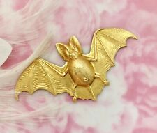Jewelry Ornament Finding (Fa-6014) Brass Gothic Bat Stamping -