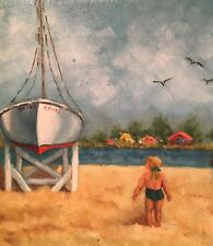 Helen Todd Hammond Original Oil Amazing Depiction of Awestruck Toddler Low Price