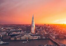 A4| City Of London Skyline The Shard Poster Size A4 City Art Poster Gift #16857