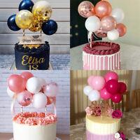 "10X/Set 5"" Confetti Balloon Cake Topper Cupcake Decor For Birthday Wedding Party"