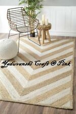 Decorative Natural Jute Handmade Home  Indian Braided Floor Reversible Rag Rugs