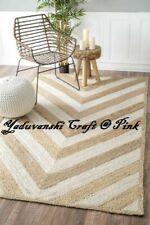 Decorative Natural Jute Handmade Home  Indian Braided Floor Reversible Rag Rugs